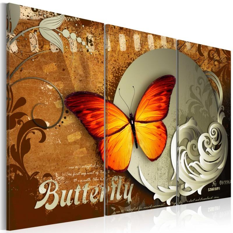 Obraz  Ognisty motyl  i pełnia księżyca
