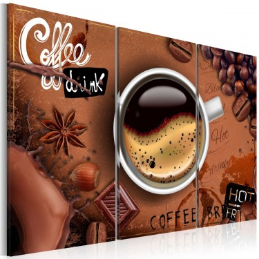Obraz  Filiżanka goracej kawy