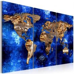 Obraz  Złote kontynenty