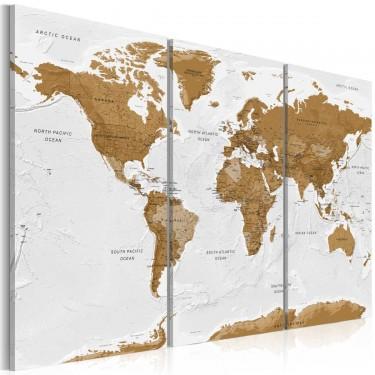 Obraz  Mapa świata Biała poezja
