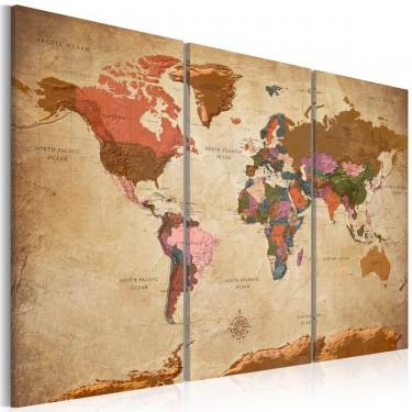 Obraz  Mapy Brązowa elegancja