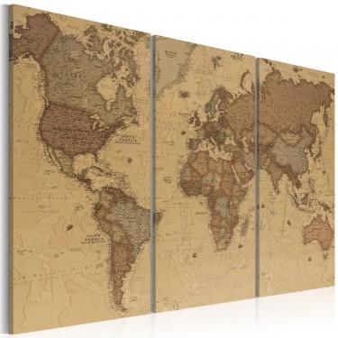 Obraz  Stylowa mapa świata