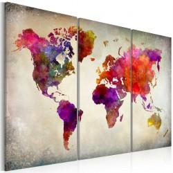 Obraz  Świat  mozaika kolorów