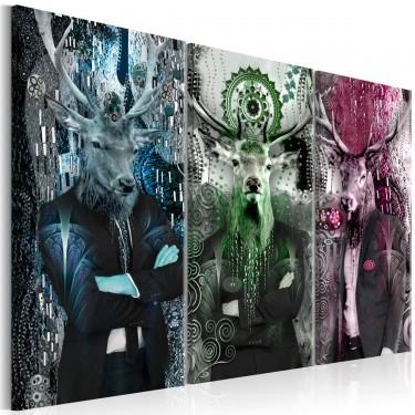Obraz  Zwierzęce trio (3częściowy) kolorowy