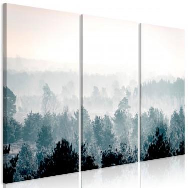 Obraz  Zimowy las (3częściowy)