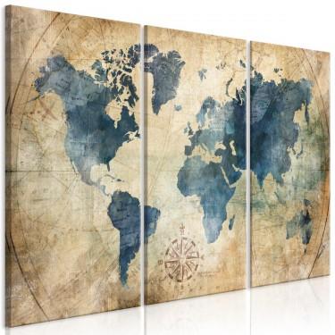 Obraz  Retro mapa (3częściowy)