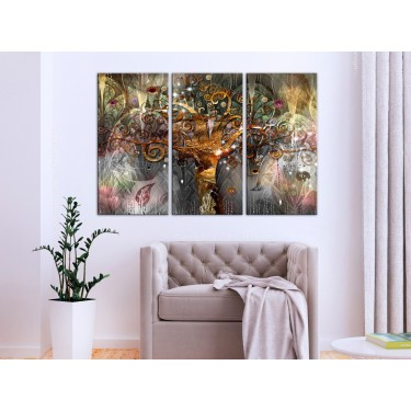 Obraz  Złote drzewo (3częściowy)