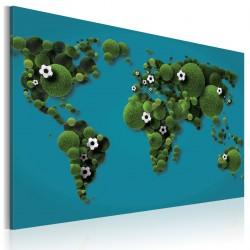 Obraz  Kontynenty okrągłe jak piłka