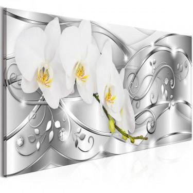 Obraz  Rozkwitanie (1częściowy) wąski srebrny