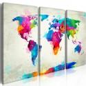 Obraz Mapa świata Eksplozja kolorów