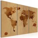 Obraz Świat kawą malowany tryptyk