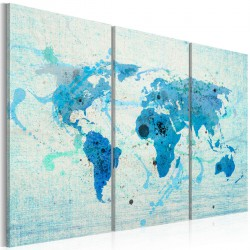 Obraz - Lądy i oceany - tryptyk