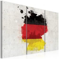 Obraz - Mapa Niemiec - tryptyk