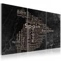 Obraz Map of Spain on the blackboard triptich