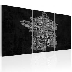 Obraz - Od Montpelier do St-Etienne (czarno-biały)