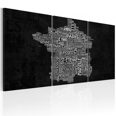 Obraz  Od Montpelier do StEtienne (czarnobiały)