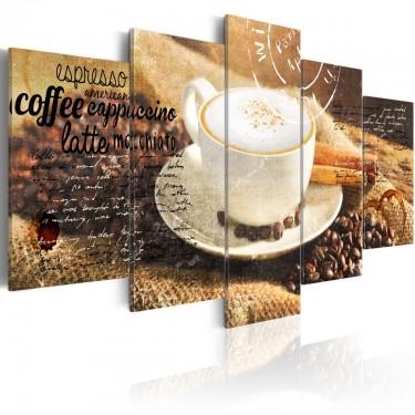 Obraz - Coffe, Espresso, Cappuccino, Latte machiato ...