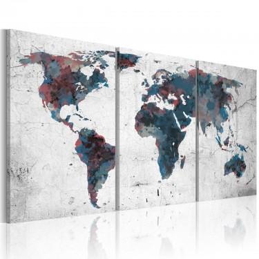 Obraz  Wędrówka kontynentów