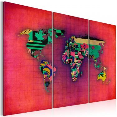 Obraz  Świat jest mój  tryptyk