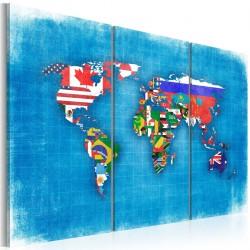 Obraz  Flagi świata  tryptyk