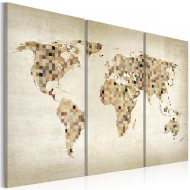 Obraz  Świat w odcieniach beżu  tryptyk