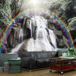 Fototapeta - Tęczowy wodospad