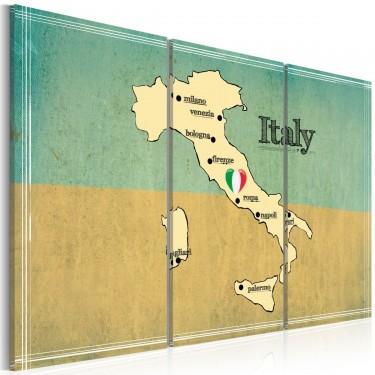 Obraz  Serce Włoch  tryptyk