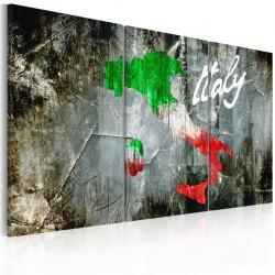 Obraz  Artystyczna mapa Włoch  tryptyk