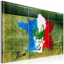 Obraz  Vive la France  tryptyk