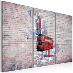 Obraz  Routemasterem dookoła Wielkiej Brytanii  tryptyk