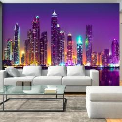 Fototapeta - Purpurowe noce (Dubaj)