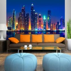 Fototapeta - Nocne miasto (Dubaj)