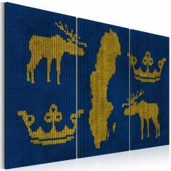 Obraz  Królestwo Szwecji  tryptyk