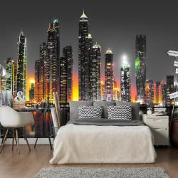 Fototapeta - Pustynne miasto (Dubaj)