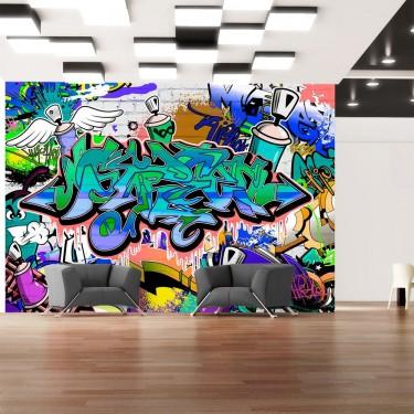 Fototapeta  Grafiti niebieski motyw