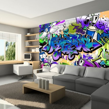 Fototapeta  Graffiti fioletowy motyw