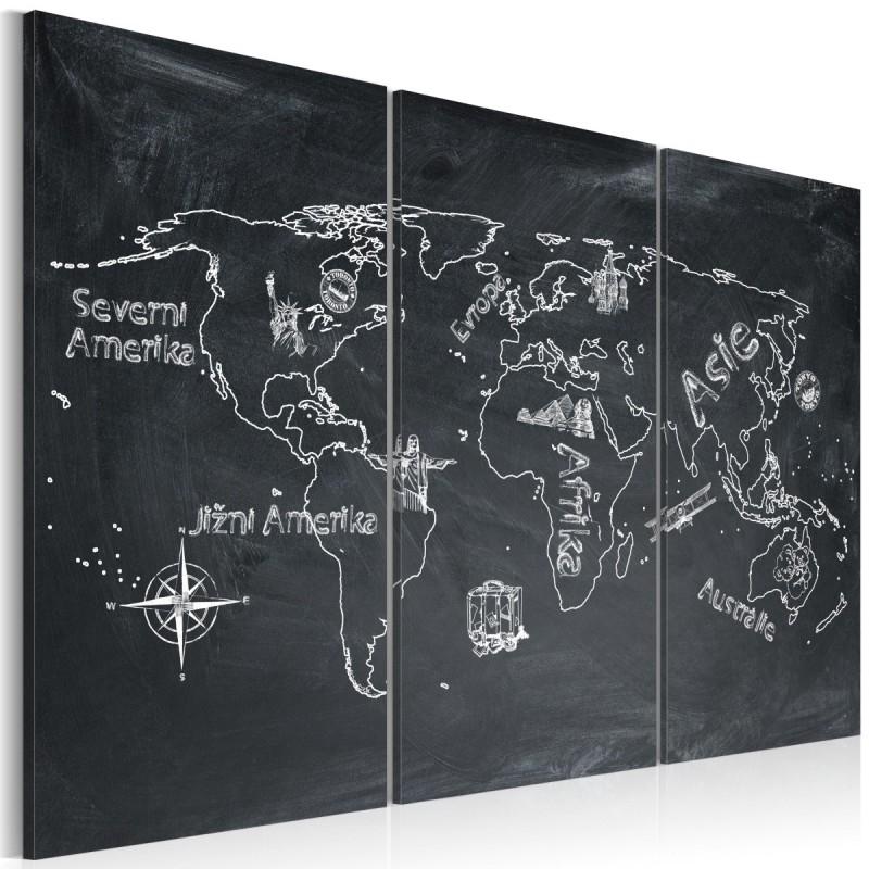 Obraz  Lekcja geografii (Język czeski)  tryptyk