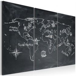 Obraz  Lekcja geografii (Język włoski)  tryptyk