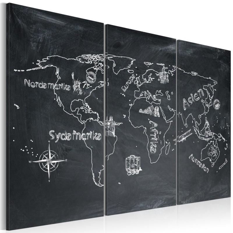 Obraz  Lekcja geografii (Język szwedzki)  tryptyk