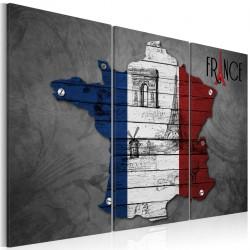 Obraz  Symbole Francji  tryptyk