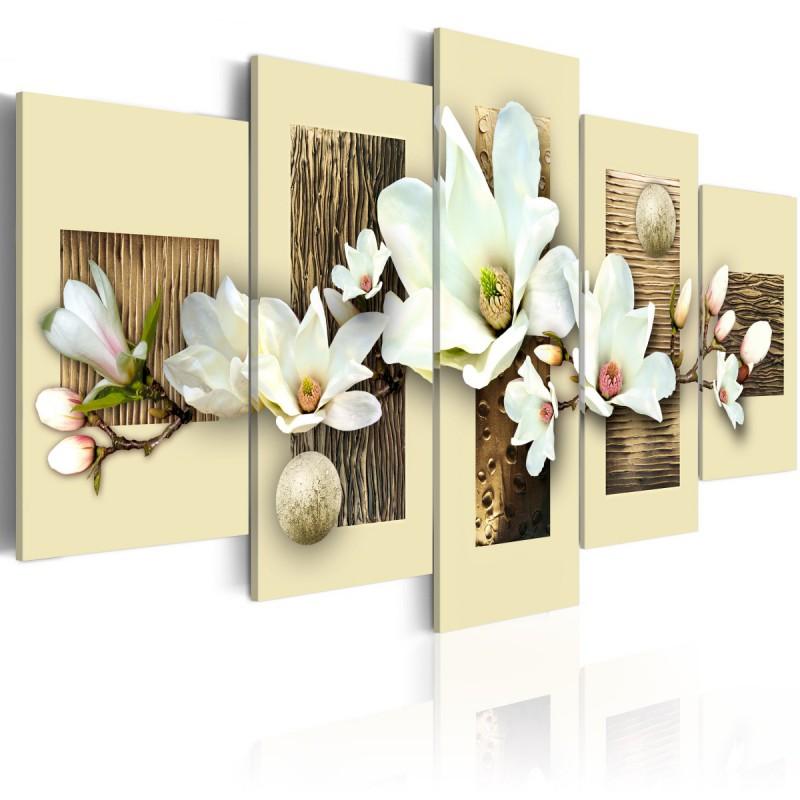 Obraz  Tekstura i magnolia
