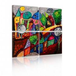 Obraz Kolorowe miasto
