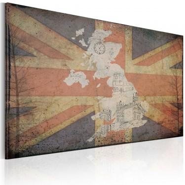 Obraz  Mapa Wielkiej Brytanii