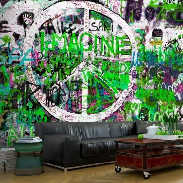 Fototapeta  Zielone graffiti
