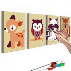 Obraz do samodzielnego malowania Leśne zwierzątka