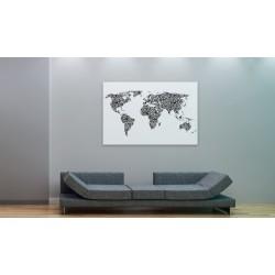 Obraz  Mapa świata  alfabet