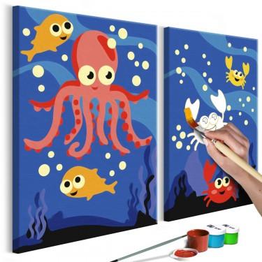 Obraz do samodzielnego malowania  Na dnie oceanu