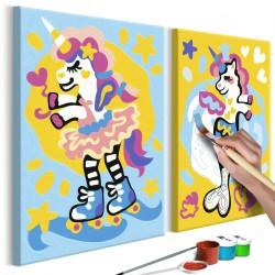 Obraz do samodzielnego malowania Zabawne jednorożce