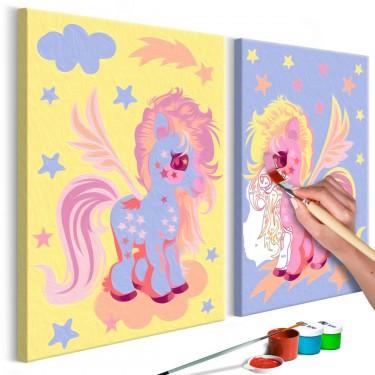 Obraz do samodzielnego malowania  Magiczne jednorożce