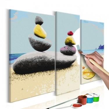 Obraz do samodzielnego malowania  Wakacyjna plaża